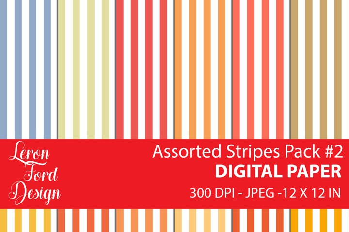 Assorted Stripes Pack #2 Digital Paper
