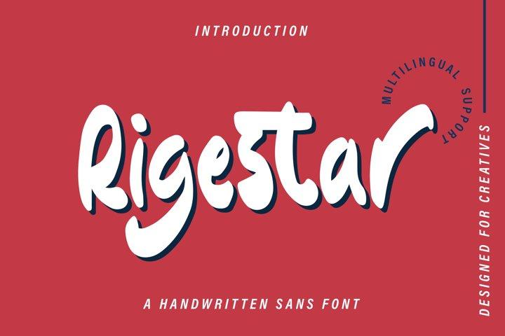 Rigestar - Handwritten Sans Font