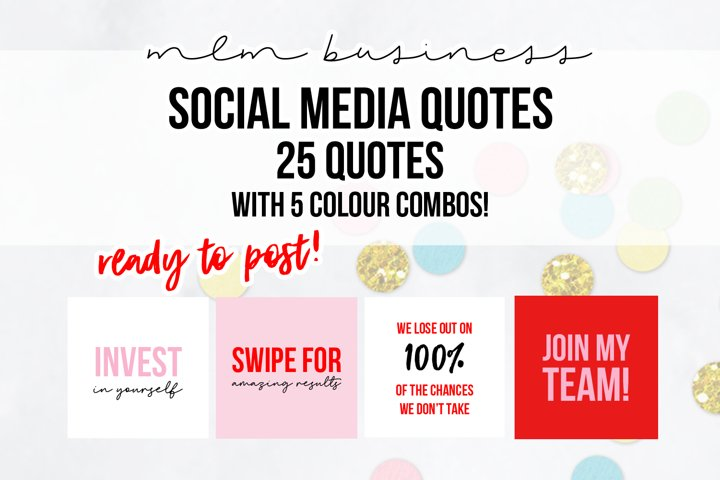 25 x Pink & Red MLM Social Media Quotes
