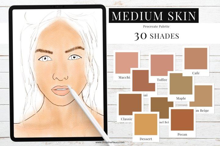 Procreate Color Palette - Medium Skin Tones