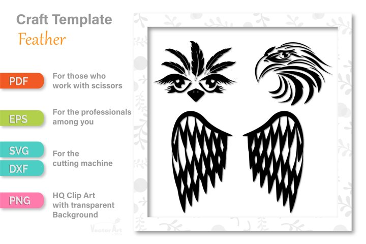 Ostrich, Eagle and Wings - Cut Files for Crafters