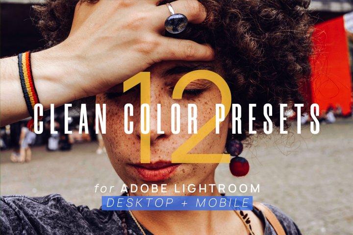 12 Clean Color Presets for Lightroom & Lightroom Mobile