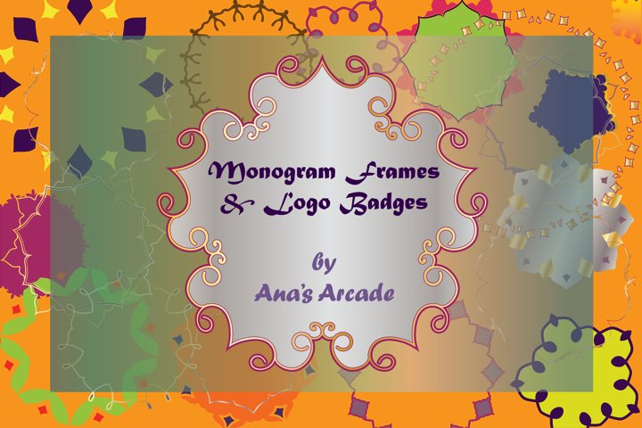 Monogram Frames & Logo Badges
