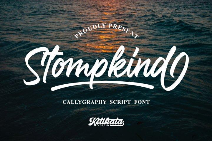 Stompkind Calligraphy Script