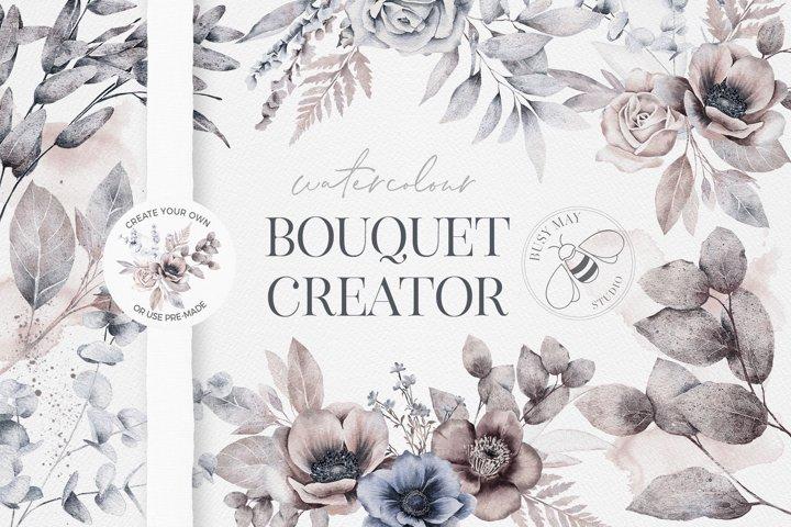 Watercolor Bouquet Flower Arrangement Wedding Creator Unique