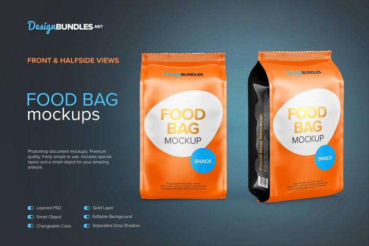 Food Bag Mockups