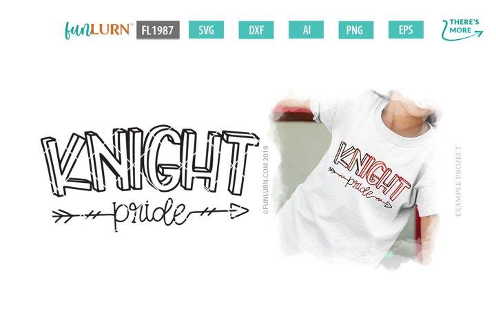Knight Pride Team SVG Cut File