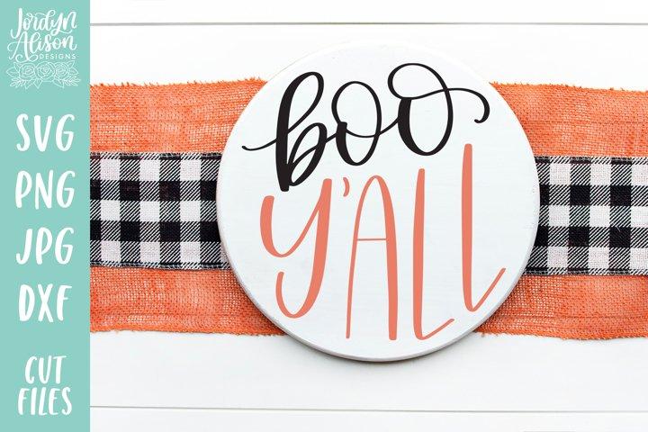 Boo Yall Round, Fall Halloween Round SVG Cut File