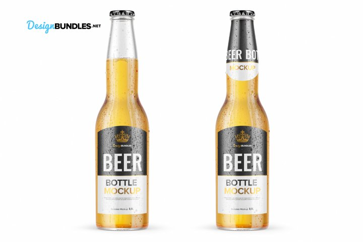 Beer Bottle Mockups example 8