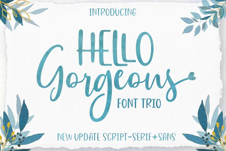 Gorgeous Script Font Trio