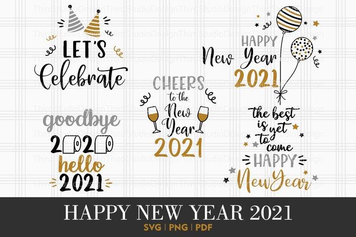 Happy New Year 2021 svg   Happy New Year svg   Vol 1