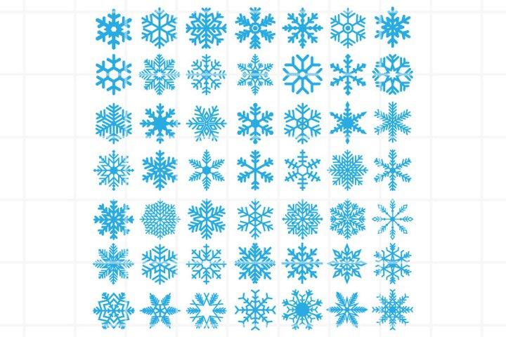 Snowflake SVG set for cut. Snowflake clipart. Christmas icon