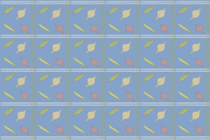 Pattern Plaid Fall Leaves vol.3