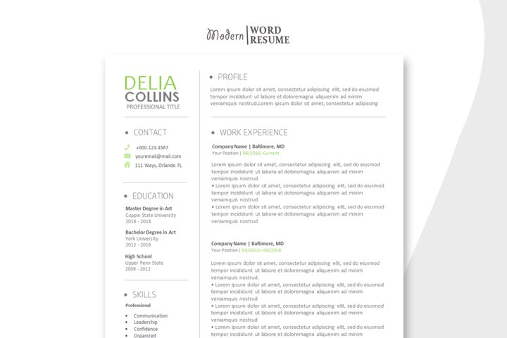 Resume Template | Cover Letter | Reference Page 2020