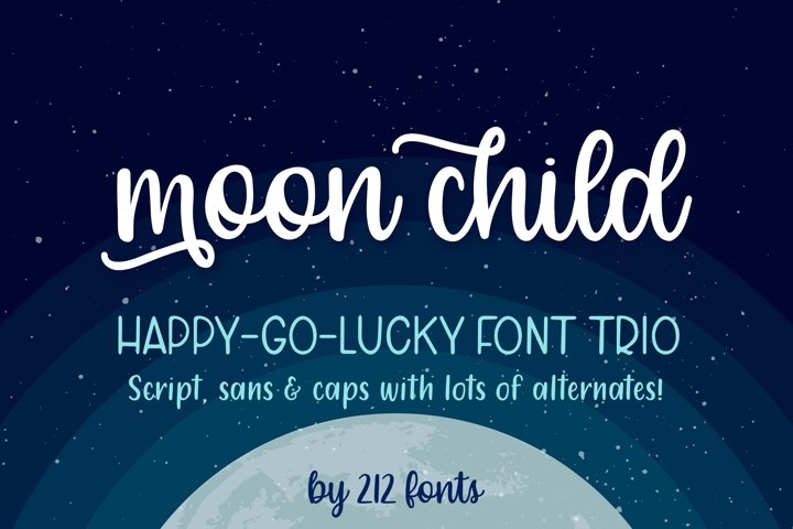 Moon Child Font Trio