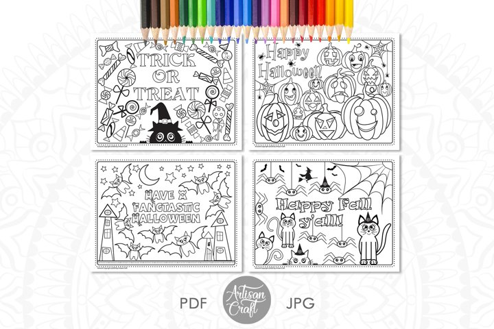 Halloween coloring pages, kids coloring pages, printable