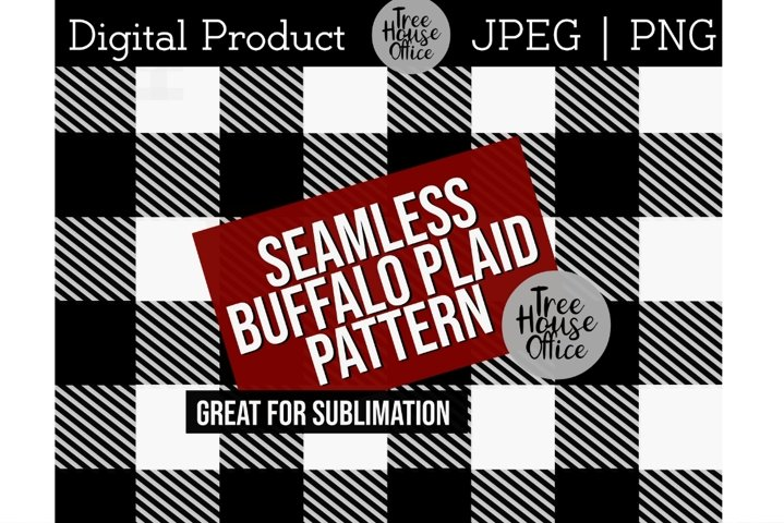 Buffalo Plaid Pattern for Sublimation PNG JPEG Background