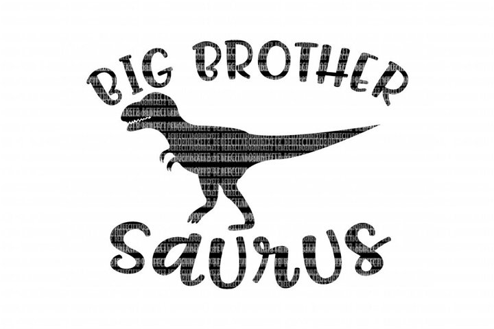 Big Brother Saurus SVG Files for Silhouette and Cricut Design Space Christmas Cut File Printable Transfer Decal DXF Commercial Use
