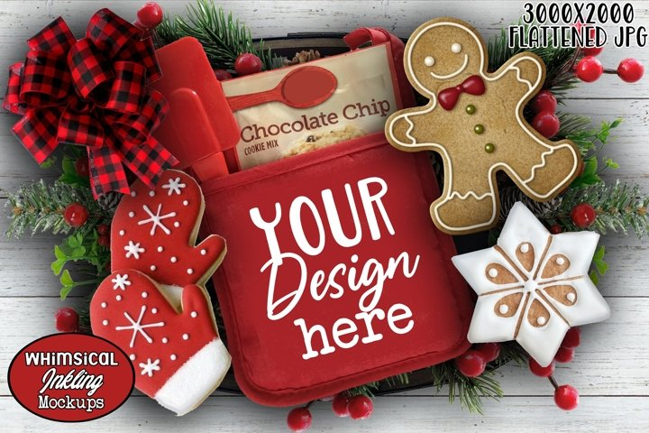 Sweet Treats Christmas Potholder Mockup
