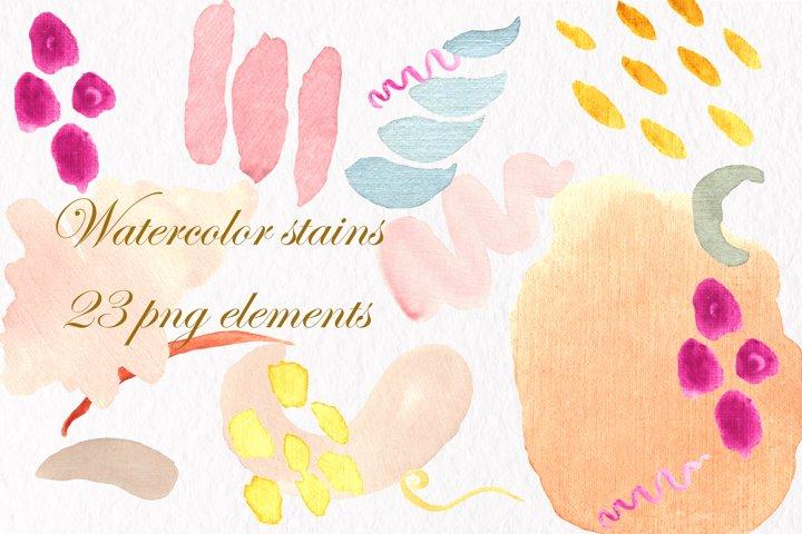 Watercolor background,Watercolor clipart, watercolor spots