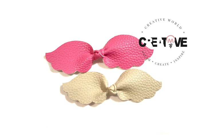Angel Wing Knot Hair Bow Digital Template  Knot Bow Template