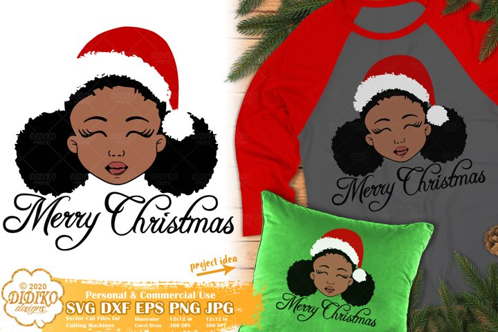 Black Girl SVG | Christmas SVG | Afro Puff Girl SVG