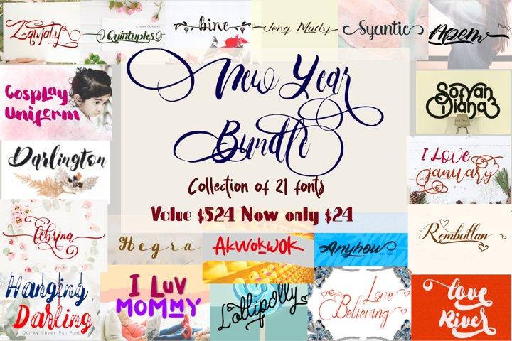 New year font bundle