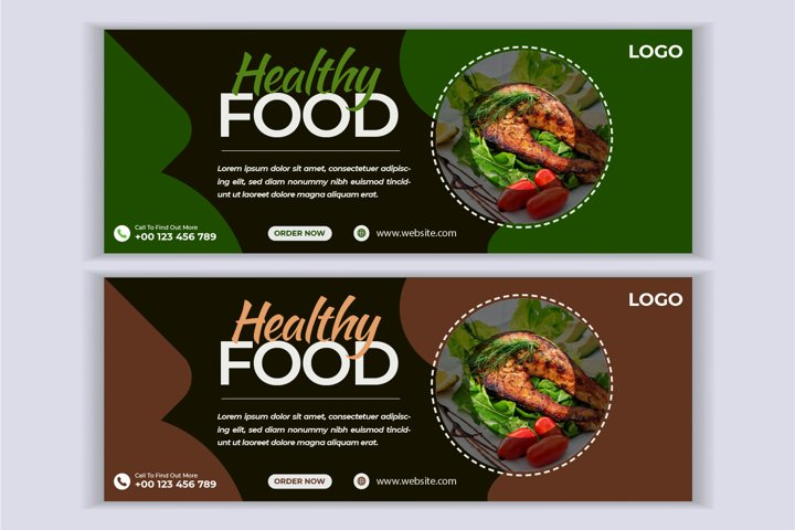 Food and restaurant web banner social media facebook cover