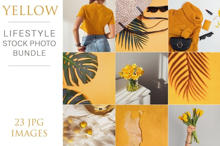 Yellow. Lifestyle Stock Photo bundle