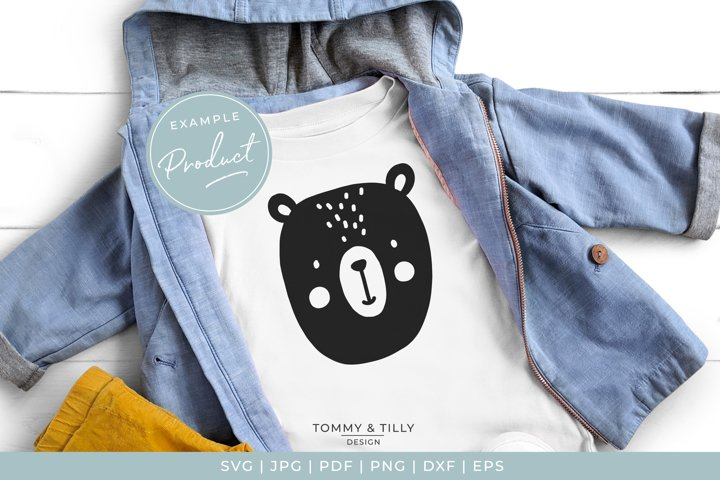 Scandinavian Style Bear - Cute Nursery Kids SVG Cut File