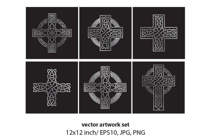 Celtic cross- VECTOR ARTWORK SET