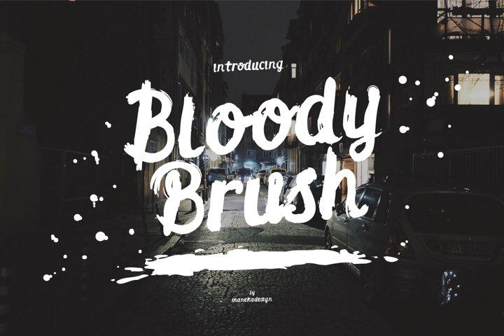 Bloody Brush Typeface