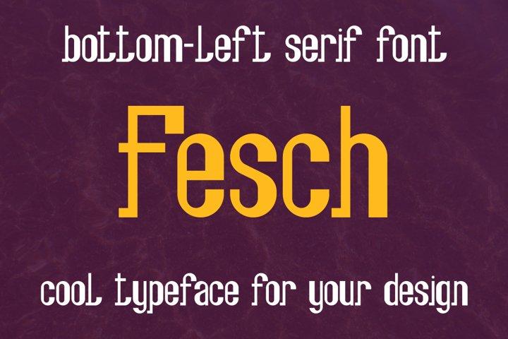 Fesch - bottom-left slab serif font