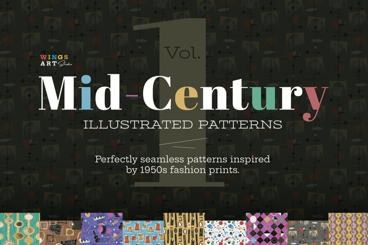 1950s Retro and Mid-Century Patterns