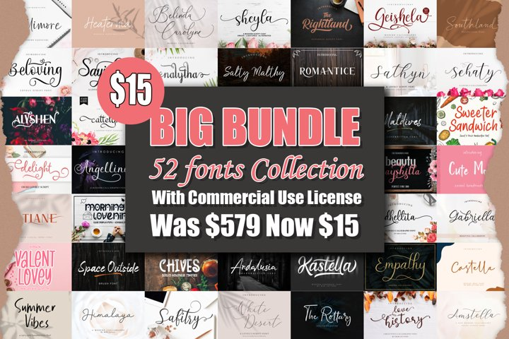 BIG BUNDLE - BEST FONT COLLECTIONS