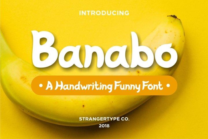 Banabo - Banana Font