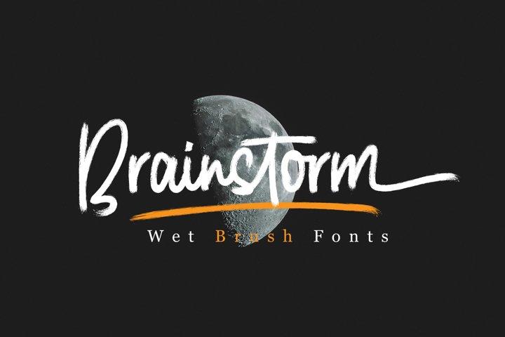 Brainstorm Brush Fonts