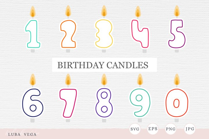 Birthday candles SVG | birthday decorations