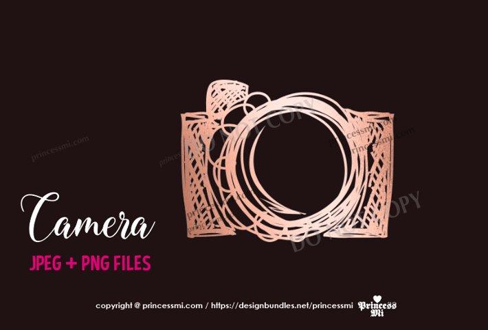 rose gold camera clipart elegant glitter camera