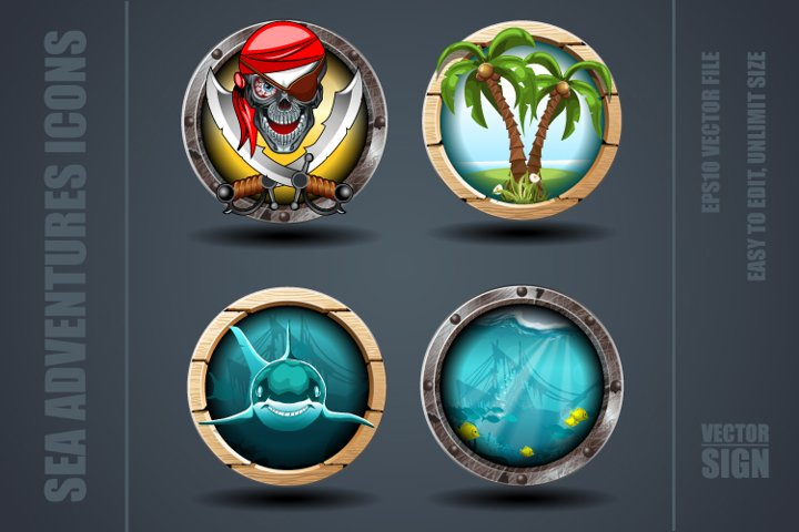 Sea adventures Games Icons