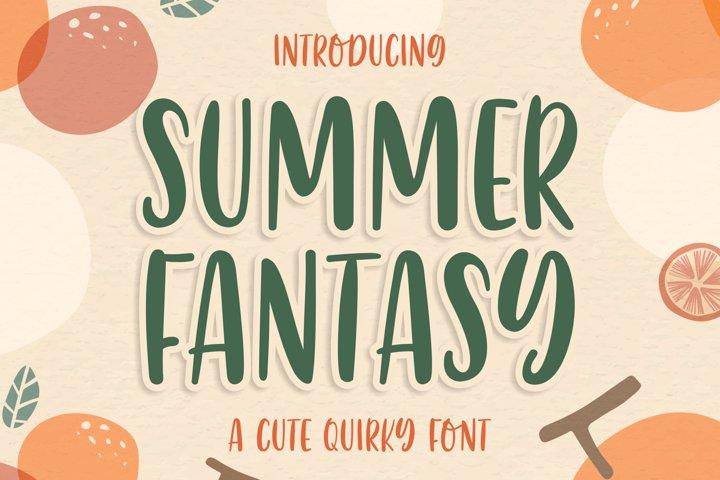 Summer Fantasy | a Cute Quirky Font