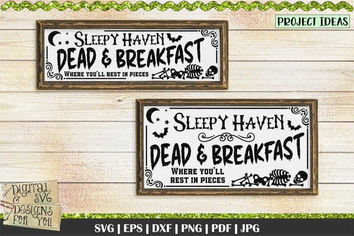 Dead & Breakfast | Halloween Sign svg | Halloween quotes