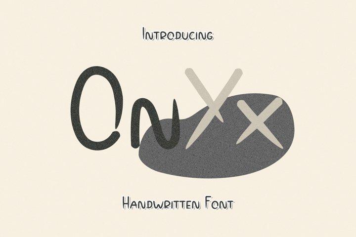 Onyx - A Spiky Handwritten Font