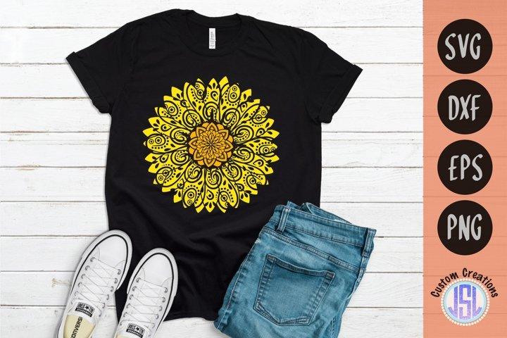 Mandala Sunflower | Mandala SVG Download | SVG DXF EPS PNG