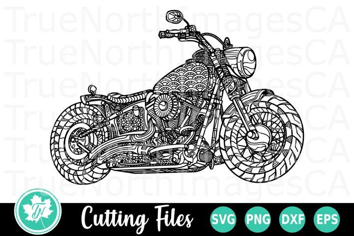 Motorcycle - A Zentangle SVG Cut File