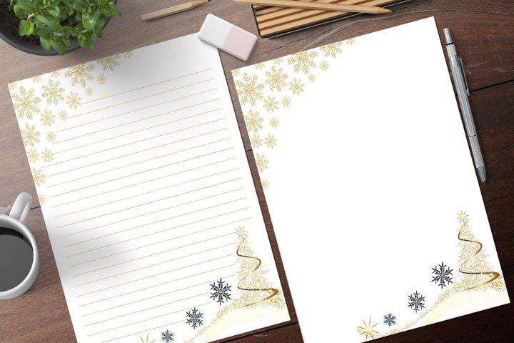 Christmas Printable Stationery Set