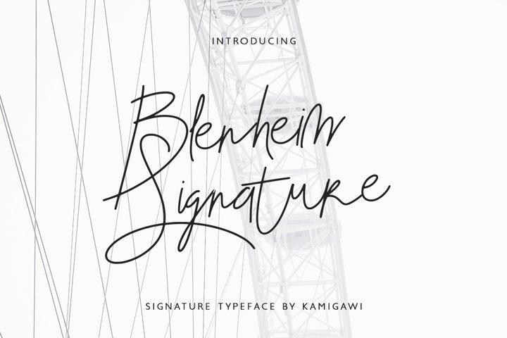 Blenheim Signature