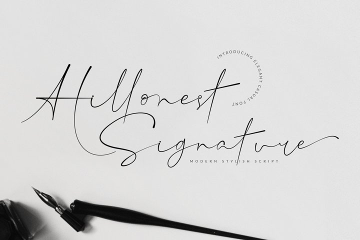 Hillonest - Modern Signature Script