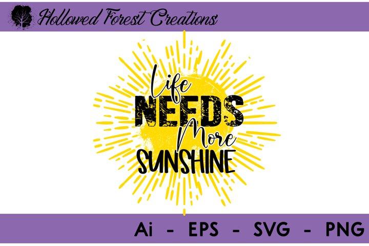 Life Needs Sunshine