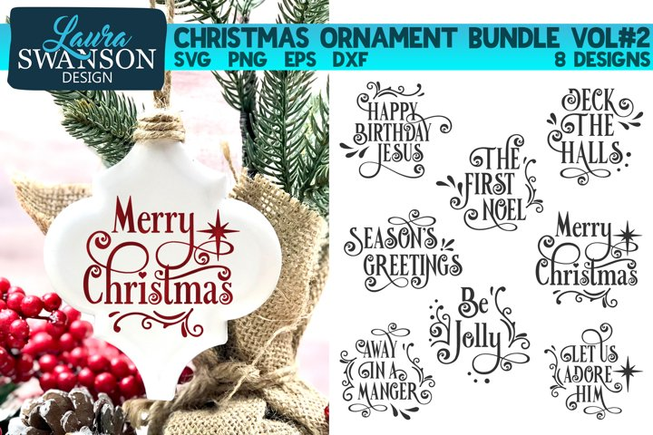 Christmas Ornament Bundle Vol#2 | Christmas SVG Bundle